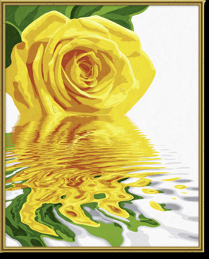 SCHIPPER Arts & Crafts Malset Gelbe Rose Malen nach Zahlen, ab 12 J. 40x50 cm, ohne Rahmen