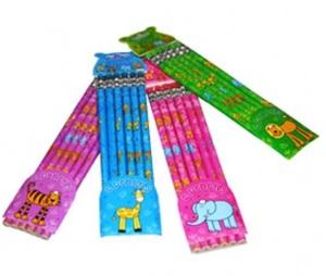 Bleistifte Jolly Jungle 6 Stück, 4-fach (eines wird geliefert assortiert mit Gummi 65086282