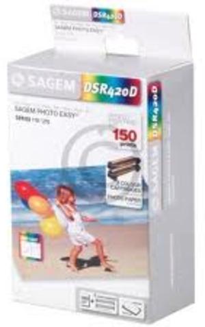 SAGEM Tinte und Papier 10x15cm DSR420T