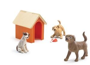 DJECO Puppenhaus Hunde DJ07818