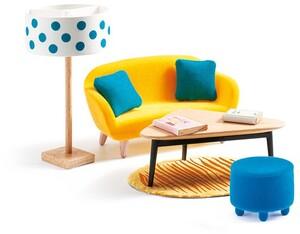 DJECO Puppenhaus Wohnzimmer orange DJ07822
