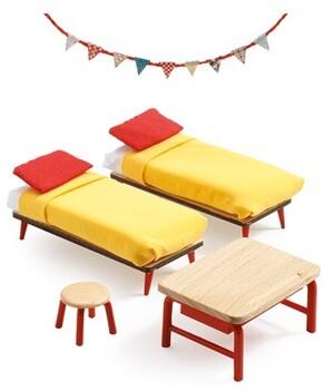 DJECO Puppenhaus Kinderzimmer DJ07826