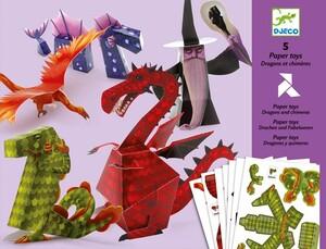 DJECO Paper Toys Drachen und Zauberer DJ09673