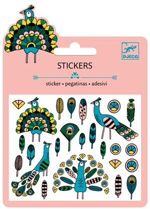 DJECO Mini Stickers Pfau SV DJ09765