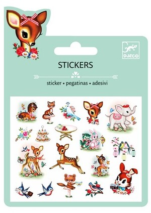 DJECO Mini Stickers Vintage animals DJ09778