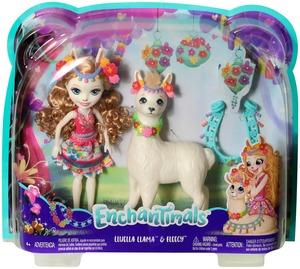 ENCHANTIMALS Lluella Llama & Fleecy, Puppe Lluella Llama ca. 15 cm, ab 4+ 57005042