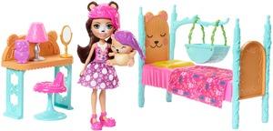 ENCHANTIMALS Schlafzimmer Spielset, Puppen Bren Bear & Snore, Bett, Zubehör, ab 4+ 57005146
