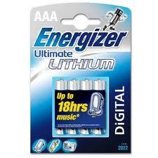 Energizer AAA/L92 Ultimate Lithium 4-P. 635233