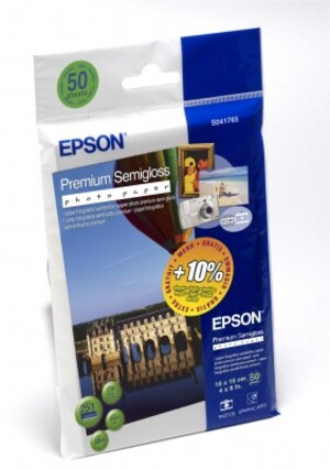 EPSON Premium Semigloss Photo,10x15,55Bl C13S041765