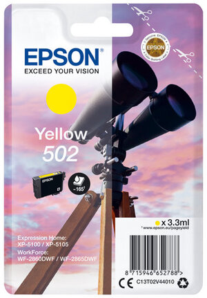 EPSON Singlepack Yellow 502 Ink C13T02V44010