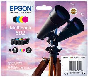 EPSON Multipack 4-colours 502 Ink C13T02V64010
