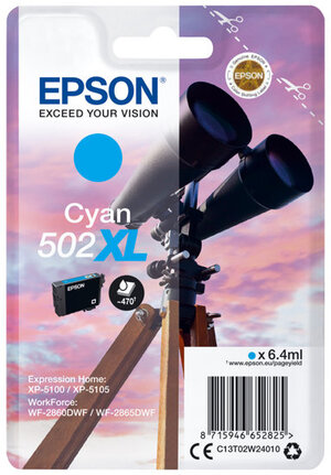 EPSON Singlepack Cyan 502XL Ink C13T02W24010