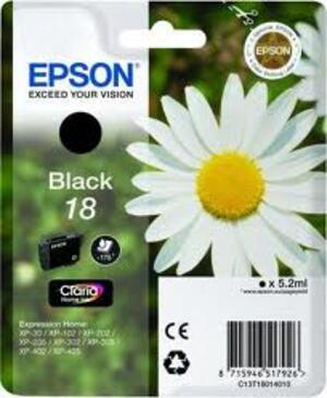 EPSON Epson Ink, Black 18 C13T18014010