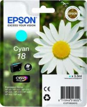 EPSON Epson Ink, Cyan 18 C13T18024010