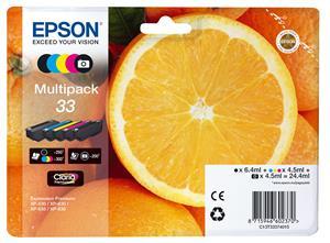 EPSON CLARIA PREMIUM INK 33 5-COLOUR-MULTIPACK EXPRESSION, Kapazität: 24,4ML C13T33374011