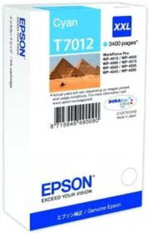 EPSON Ink Cart/WP4000/4500 Series XXL Cyan T701240