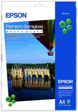 EPSON Premium Semigloss Photo, A4,20 Bl. S041332