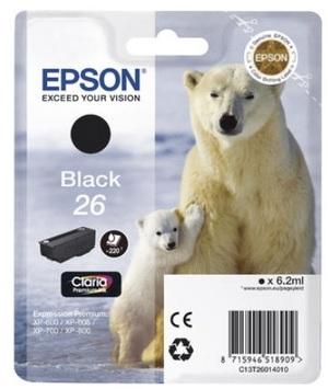 EPSON Tintenpatrone schwarz T26014010
