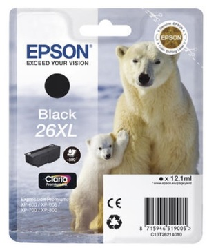 EPSON EPSON Tintenpatrone 26XL HY schwarz T26214010