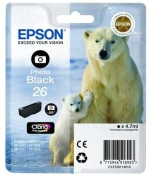 EPSON Tintenpatrone 26XL ph.schwarz T26314010