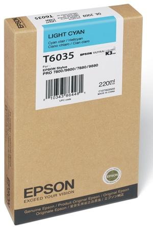 EPSON Tintenpatrone light cyan T603500