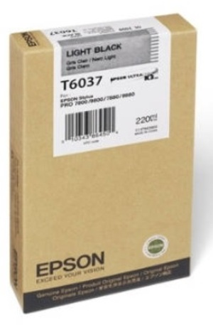 EPSON Tintenpatrone light black T603700