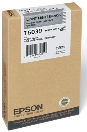 EPSON Tintenpatrone light-lig. black T603900