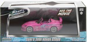 GREENLIGHT F&F 2Fast 2Furios (2003) - 2001 Honda S2000 pink 4786225
