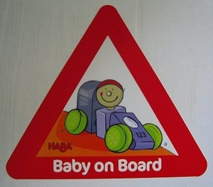 HABA HABA-Aufkleber Baby on Board 709589