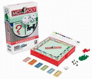 Diverse Monopoly, PARKER, Kompakt-Spiel für 2-6 Spieler, ab 8 Jahre, nur deutsch, in Lithobox 1324100