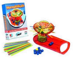 Diverse HB Murmelmikado kompakt, MB Spiele, Kompakt-Spiel für 2 - 4 Spieler, ab 6 Jahren, nur deutsch, in Lithobox 15802100