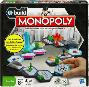 Hasbro Monopoly U-Build, Familienspiel, für 2 - 6 Spieler, ab 8 Jahren, in Lithobox 18361100