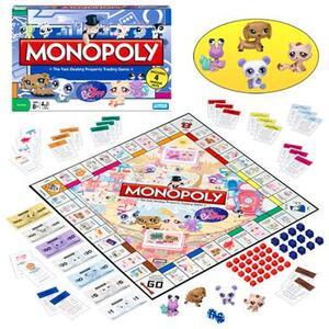 Littlest Pet Shop Monopoly Littlest Petshop, Familienspiel, für 2 - 6 Spieler, ab 8 Jahren, in Lithobox 3601100