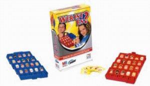 Wer ist es?, MB Spiele, Kompakt-Spiel für 2 Spieler, ab 6 Jahre, nur deutsch, in Lithobox 4279100