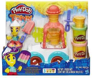 Play-Doh Play-Doh Town Eiswagen 1 Figur und 3 Dosen Knete, ab 3 Jahren 63103417