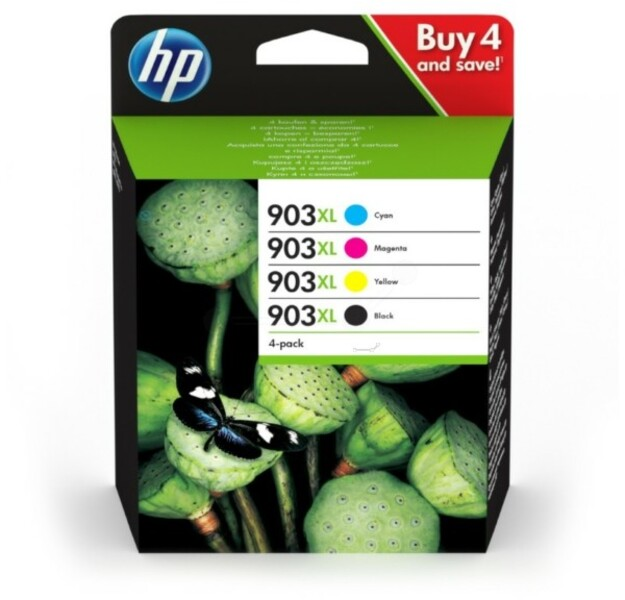HP 903XL 4-Pack Tinte C/M/Y/K 3HZ51AE