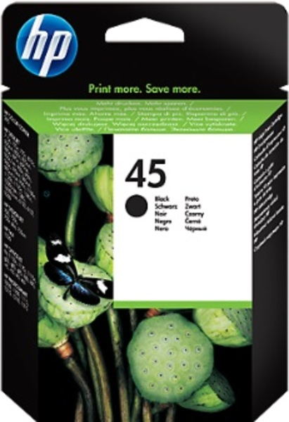 HP Ink Cartridge, 45, black 51645AE