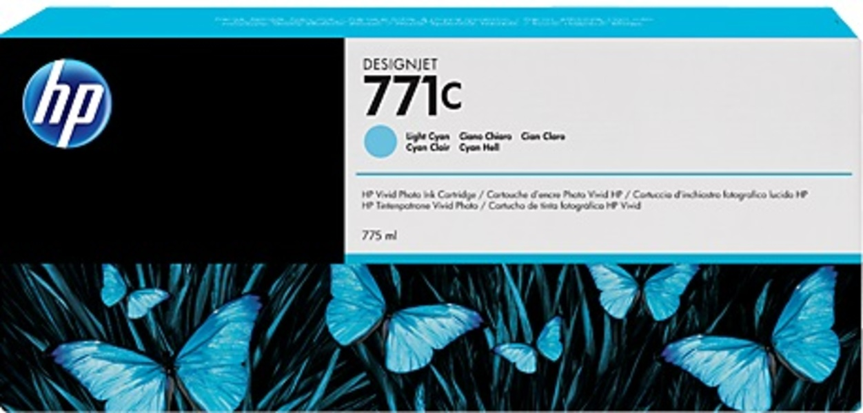 HP 711C 775-ml Light Cyan Ink Cartridge B6Y12A