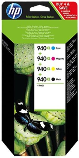 HP 940XL CMYK Ink Cartridge Combo Pack C2N93AE
