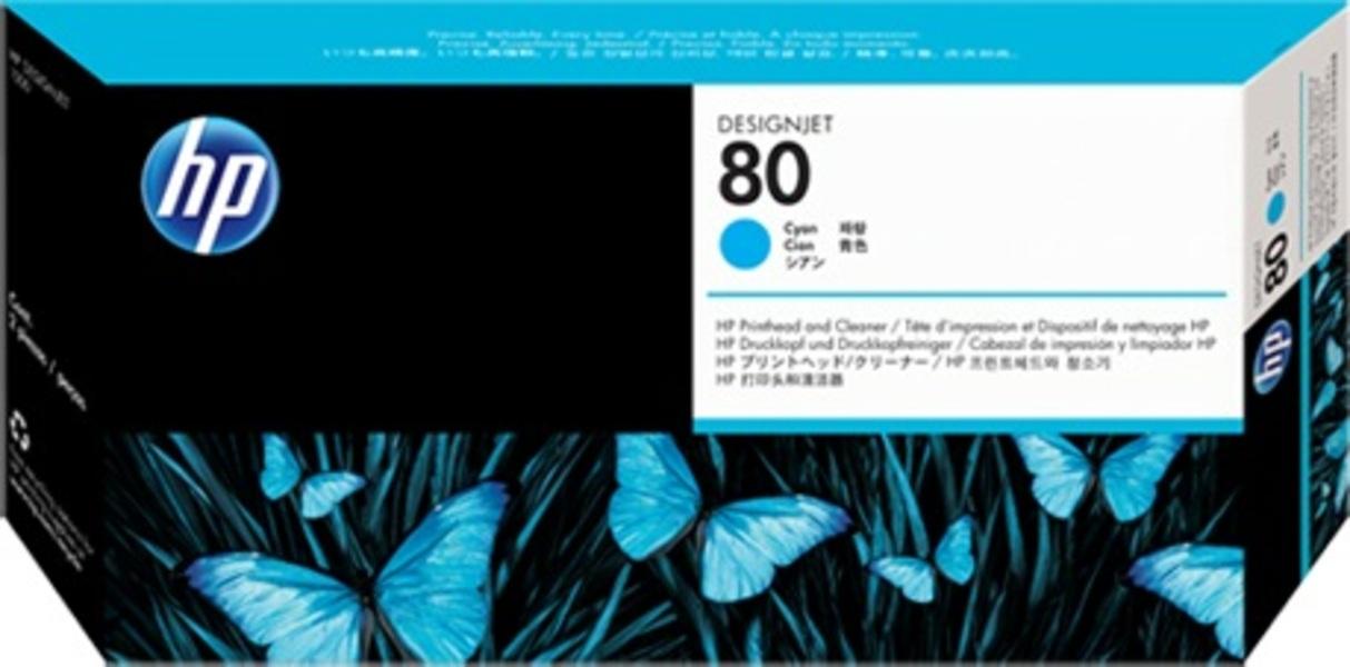 HP Printhead 80, cyan C4821A