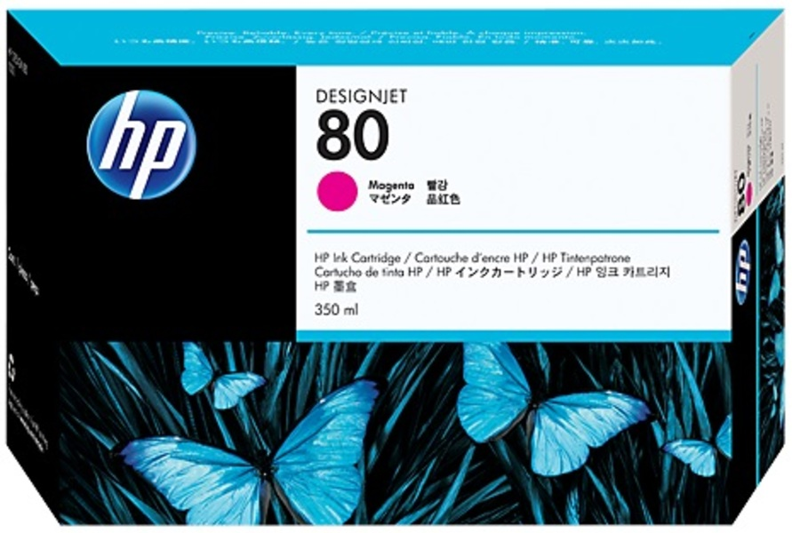 HP HP Ink Cartridge, 80, magenta C4847A