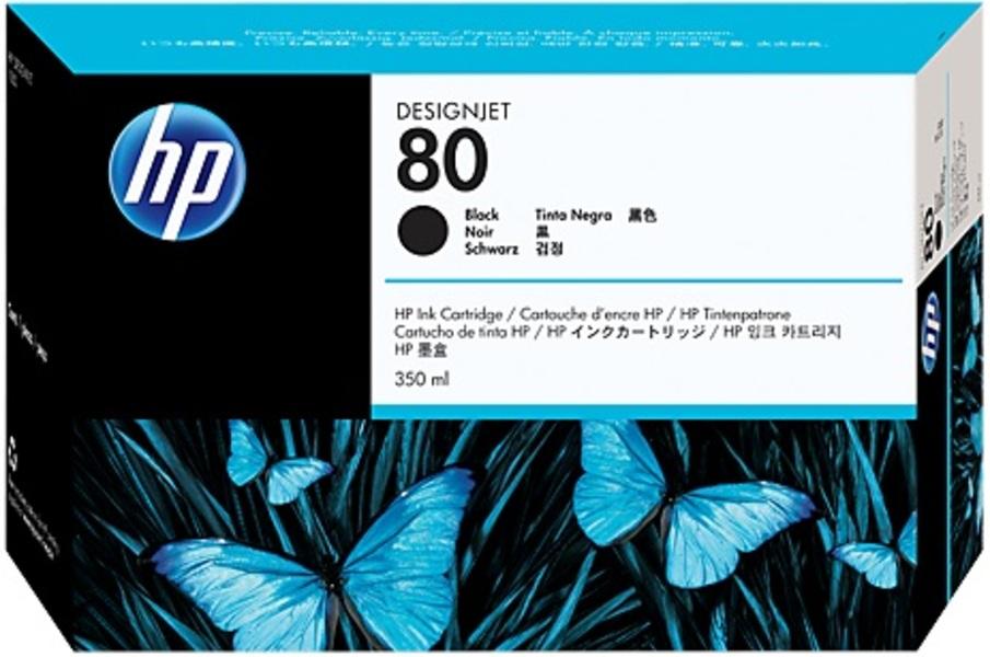 HP HP Ink Cartridge, 80, black C4871A