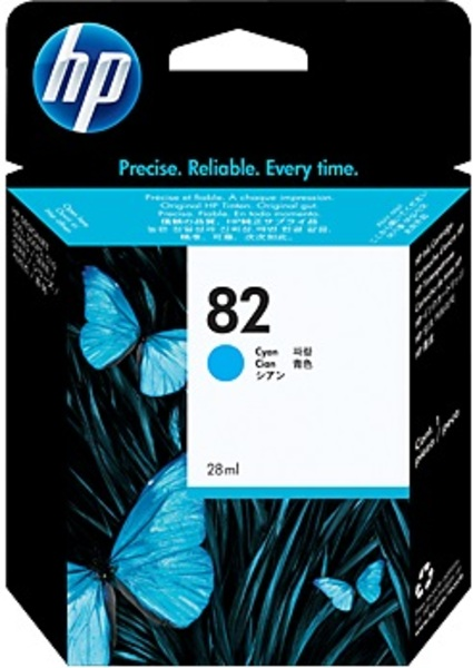 HP Ink Cartridge, 82, cyan C4911A