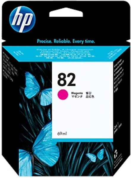 HP Ink Cartridge, 82, magenta C4912A