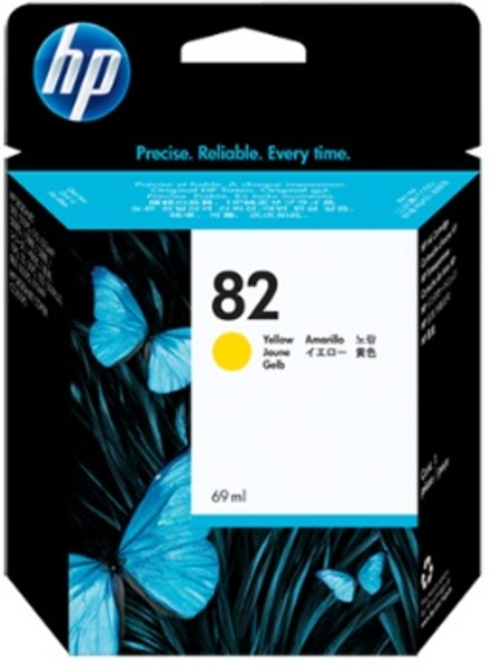 HP Ink Cartridge, 82, yellow C4913A