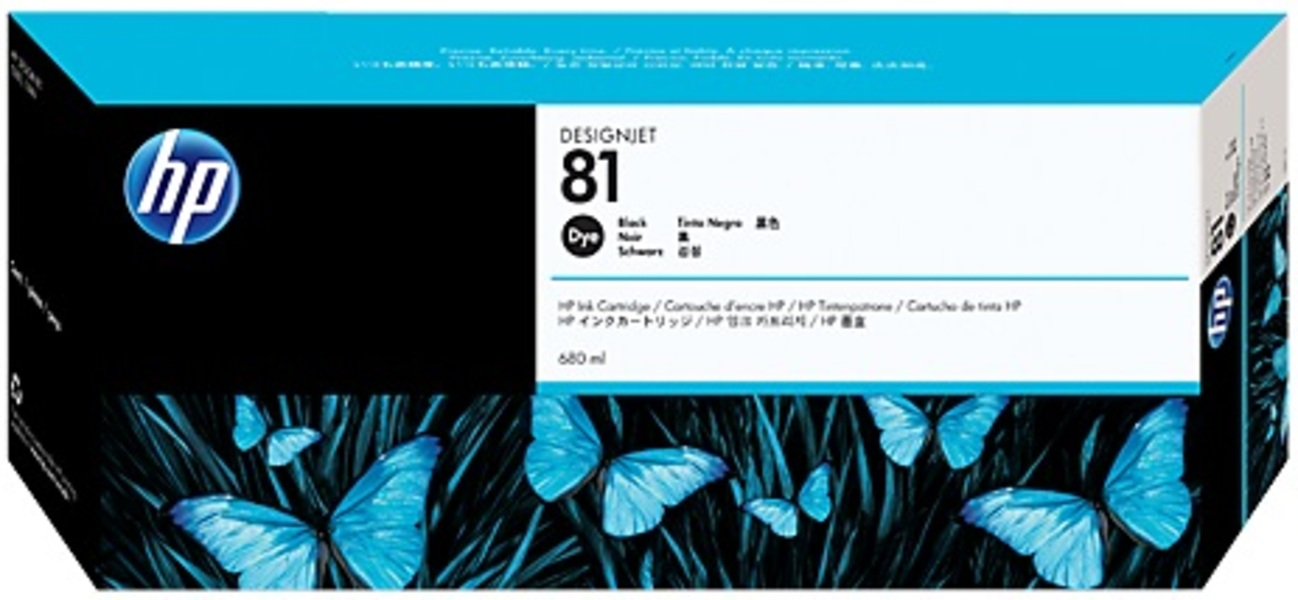 HP Ink Cartridge, 81, black C4930A