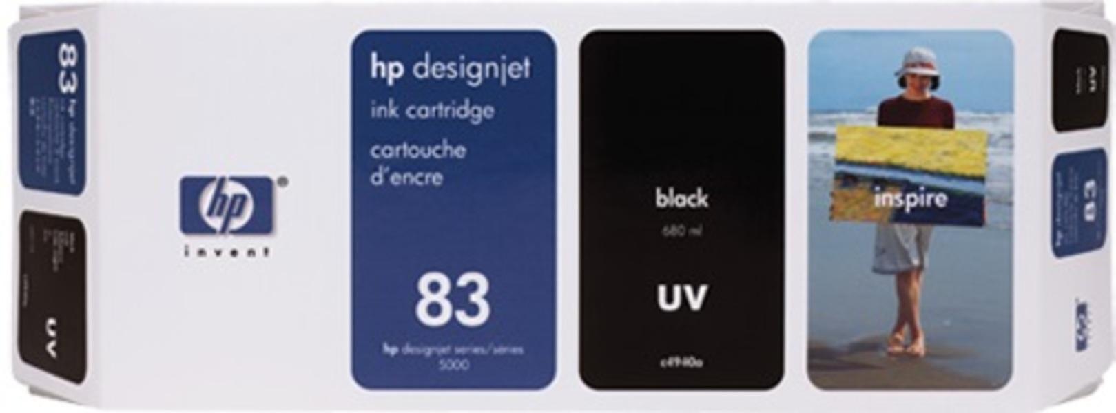 HP Ink Cartridge 83, black C4940A