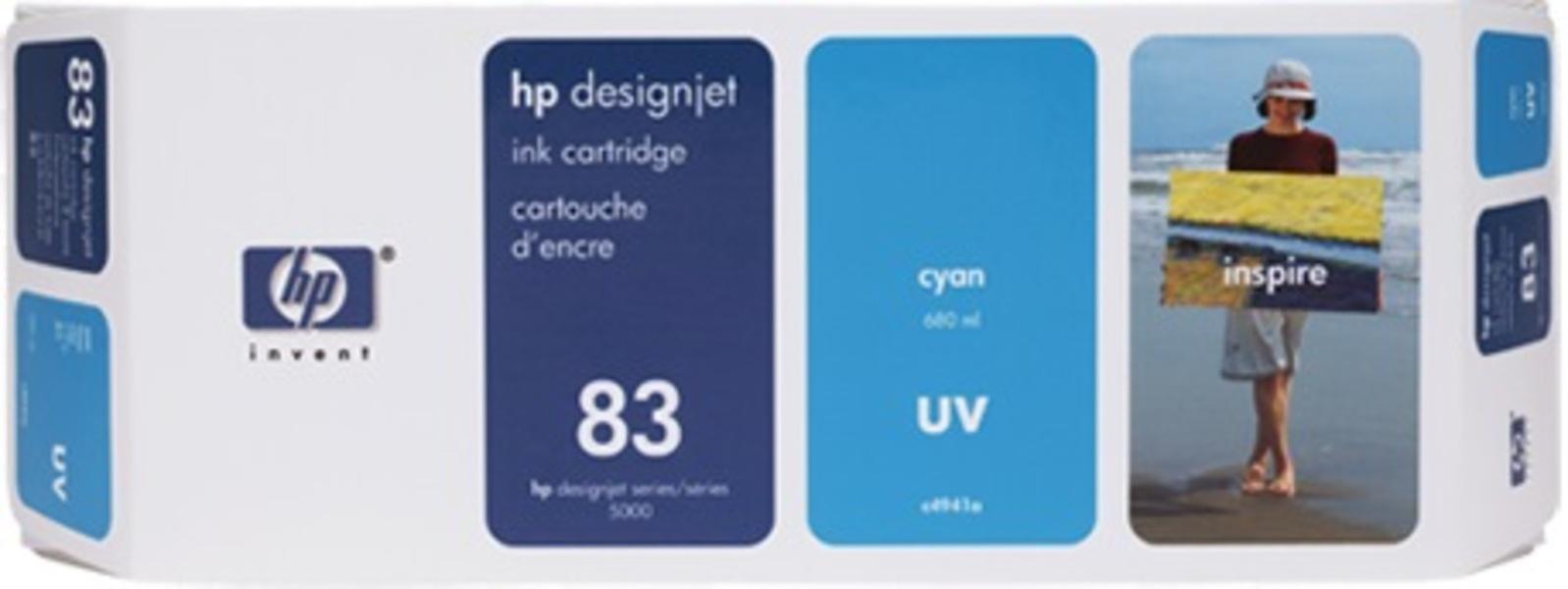 HP Ink Cartridge 83, cyan C4941A