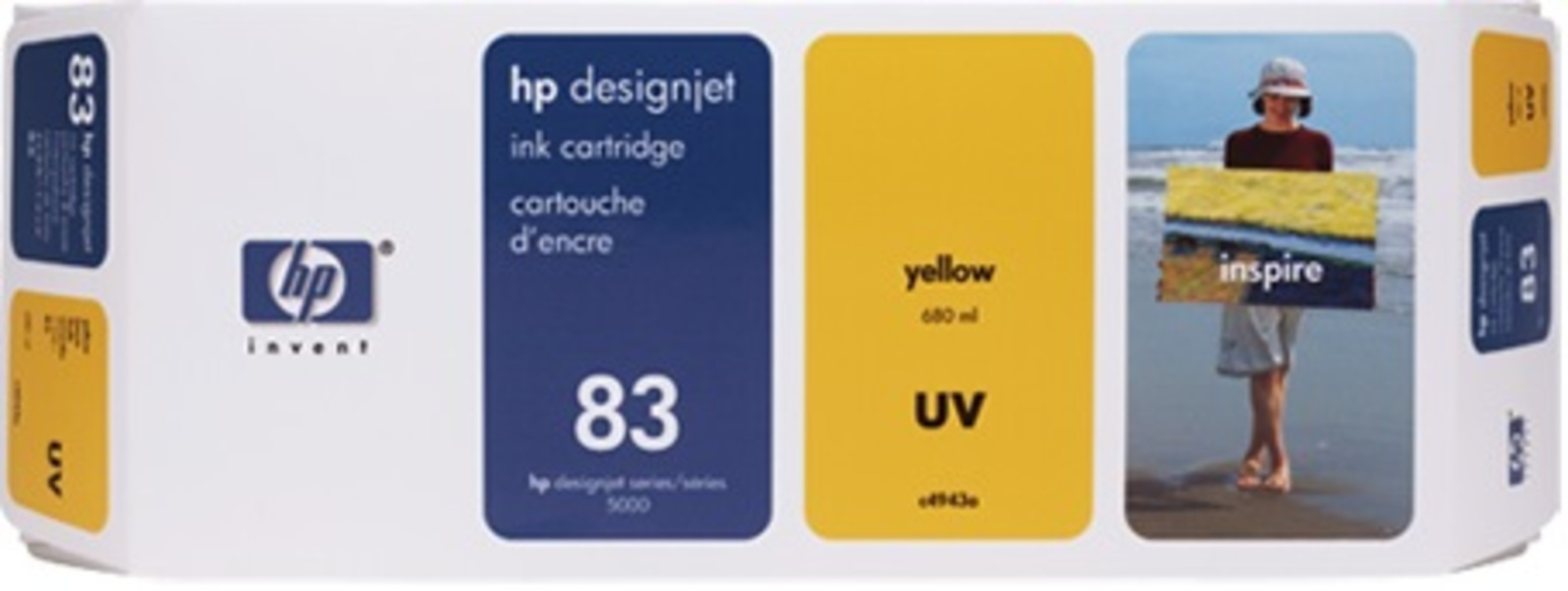 HP Ink Cartridge 83, yellow C4943A