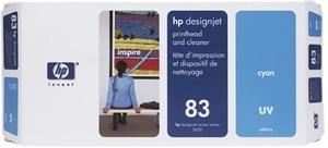 HP Printhead 83, cyan UV C4961A